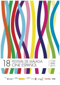 Cartel anunciador del 18 Festival de Cine Español de Málaga.