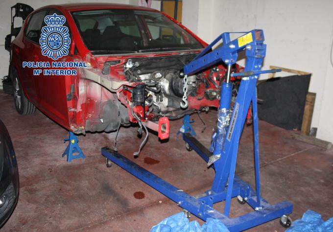 La Policía Nacional recupera 70 automóviles robados y desarticula una red internacional dedicada al tráfico ilícito de vehículos