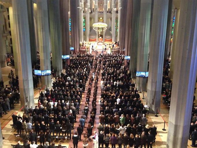 Funeral en la Sagrada Familia. / Foto: Europa Press.