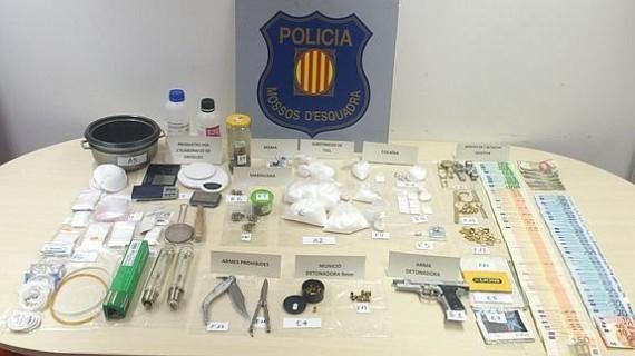 Detenida una familia en Barcelona con un laboratorio de drogas en su casa