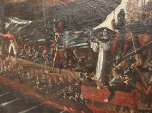 Revelación de San Pío V de la victoria de la Santa Liga en Lepanto.