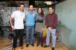 Los integrantes del proyecto Pedro José Moreno, Borja Sañudo, Pilar Naranjo y Dámaso Muñoz.