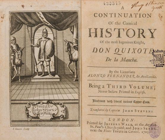 'El Quijote' de Avellaneda, uno de los enigmas de la literatura española