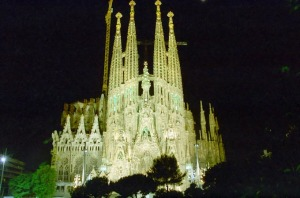 Sagrada Familia de Gaudí.