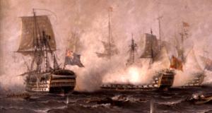 Combate de Trafalgar.