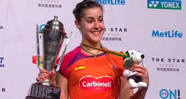 Carolina Marín reina en el Star Australian Open tras derrotar en la final a la china Shixian Wang
