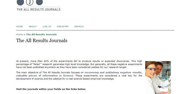 """Científicos buscan financiación para potenciar la publicación de investigaciones """"fallidas"""""""