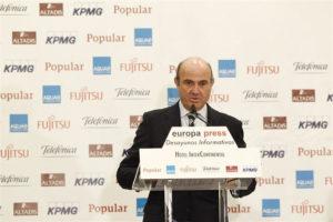 El ministro Luis de Guindos. / Foto: Europa Press.