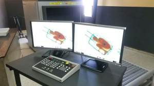Imágenes del escáner en las que aparece el niño dentro de la maleta. / Foto: Guardia Civil