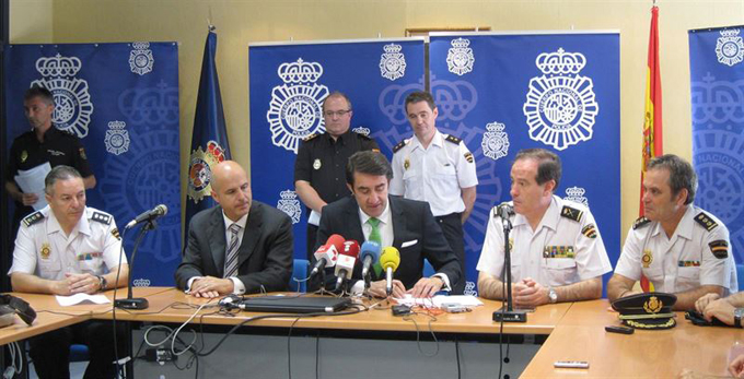 La Policía ha ofrecido información sobre los detenidos.