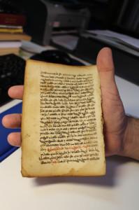 Hoja del códice médico recuperado por el investigador Juan Pedro Monferrer.