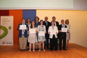 Los ganadores recogieron sus diplomas. / Foto: Down Madrid.