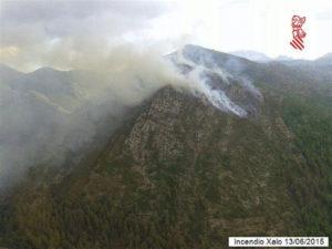 Los medios están desplegados para hacer frente a posibles incendios. / Foto: 112