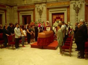 Los familiares y amigos de Zerolo lo velan en la capilla ardiente. / Foto: Europa Press.