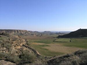 Mesas formadas por erosión de la terraza más antigua del río Alcanadre dominando el paisaje de la zona (cuenca del Ebro). / Foto: C. Sancho / Agencia Sinc