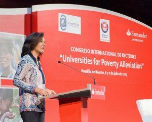 Intervención durante el Congreso Internacional de Rectores. / Foto:  Javier Vázquez.