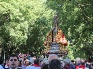 Procesión de San Fermín en Pamplona. / Foto: Europa Press.