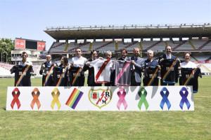 El Rayo se une en contra de la homofobia. / Foto: Europa Press.