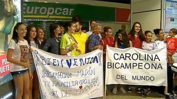 La Carolina más feliz ya se encuentra en España y fue recibida por su familia a su llegada a Madrid