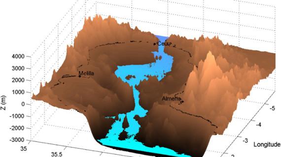 Investigadores españoles analizan las corrientes de agua que generaron el Estrecho de Gibraltar hace más de cinco millones de años