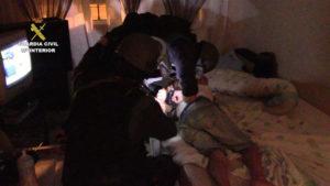 Detención por parte de a Guardia Civil de uno de los involucrados.