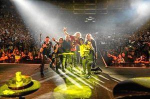 Uno de los conciertos de la gira.