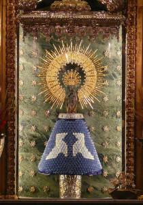 La Virgen lucirá un manto hecho de papel. / Foto: Origami Zaragoza