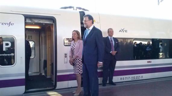 El tren inaugural del AVE a Palencia y León concluye su primer trayecto