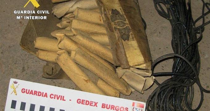 Desactivados 27 cartuchos de dinamita encontrados en una vivienda de Burgos