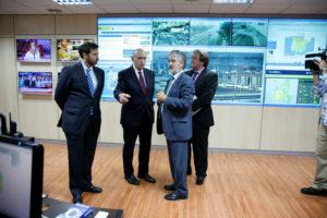 Visita del ministro del Interior al centro de coodinación. / Foto: Ministerio.