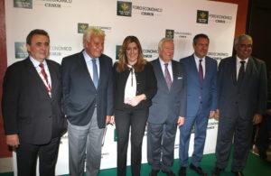 José Luis García Palacios junto a Felipe González, Susana Díaz, Juan Espadas y Antonio Ramírez.