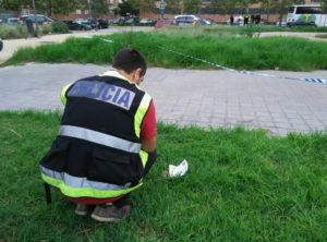 La Policía ha retirado el artefacto. / Foto: Europa Press.