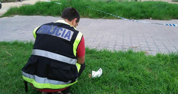 La Policía Nacional retira una granada de la Guerra Civil en un jardín de Valencia