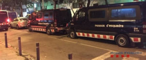 Intervención de los Mossos en Barcelona. / Foto: Mossos da Squadra.