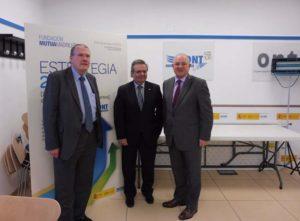 Los miembros de la delegación escocesa durante su visita.