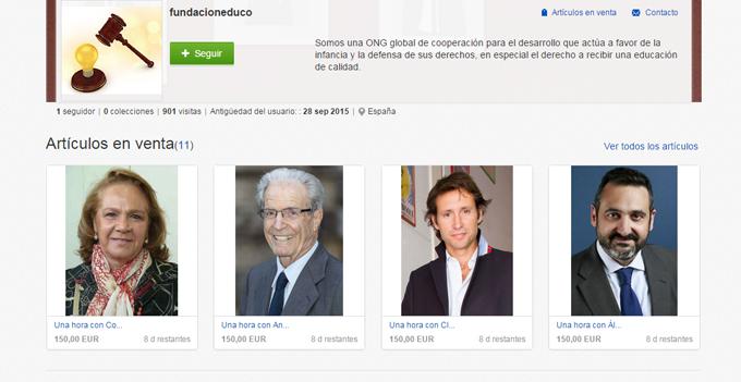 Once empresarios españoles subastan una hora de su tiempo para recaudar fondos para la ONG Educo