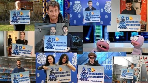 Artistas, presentadores y deportistas colaboran en la campaña de la Policía 'Doce Campanadas de seguridad en Internet'