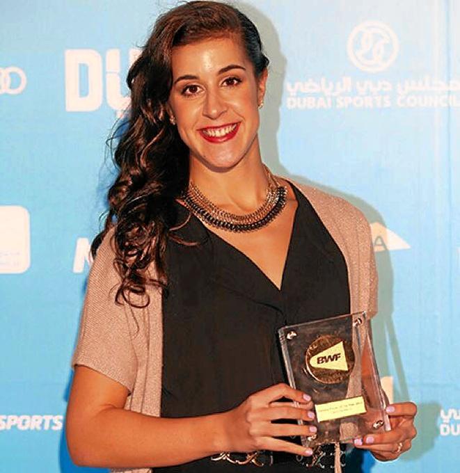 Carolina Marín, elegida mejor jugadora mundial del año