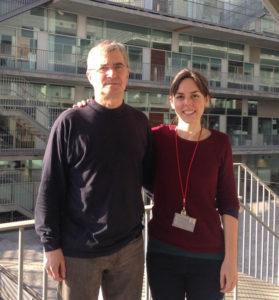Andreas Meyerhans y Cristina Peligero.