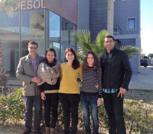 El equipo de investigadores de la Universidad de Almería que lleva este estudio.