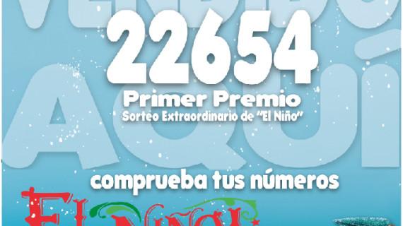 El número 22.654 es agraciado con el Sorteo del 'Gordo' del Niño
