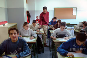 oposiciones aula profesor alumnos