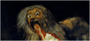 Una parte del cuadro de Goya 'Saturno devorando a su hijo'.