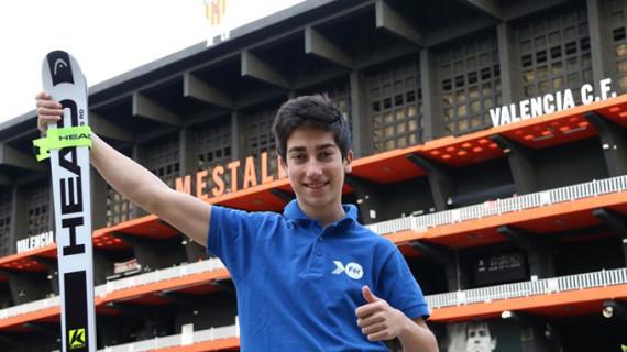 El joven valenciano Jaime Almenar gana el campeonato de España de Esquí Alpino para personas con discapacidad