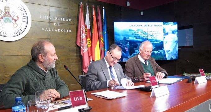 Un equipo de la Universidad de Valladolid investigará los restos de la Cueva de Els Trocs en Huesca