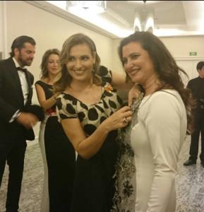 Junto a Ainhoa Arteta.