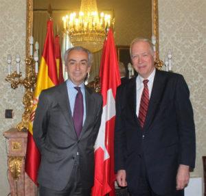 Miguel Ferre y Jacques de Watteville. / Foto: Ministerio de Hacienda y Administraciones Públicas.