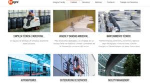 Página web de Integra Facility Services.