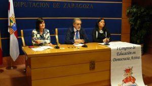Elena Allué de Baro, Joaquín Barriga Lorente y María del Carmen Herrero Abián.