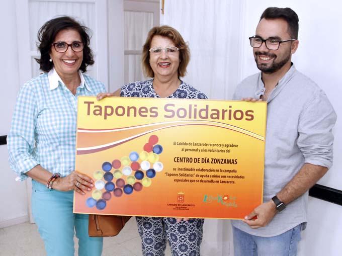 La campaña 'Tapones Solidarios' finaliza en Lanzarote con la recogida de más de ocho toneladas de plástico